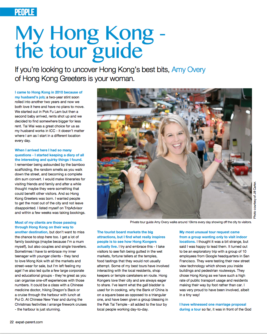 My Hong Kong Tour Guide Amy Overy